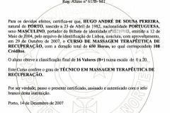 HUGO PEREIRA - MASSAGEM RECUPERAÇÃO